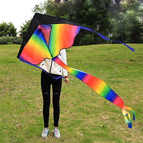 Layang Layang Model Parasut Paralayang Waterproof Multi Color layang layang pelangi untuk anak waterproof material