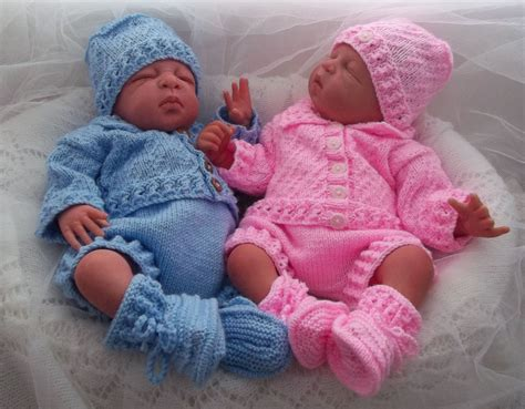 knit baby baby knitting pattern boys reborn dolls newborn to