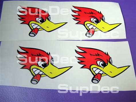Racing Duck Aufkleber by Product Woody Woodpecker 4 Set Right Auto Decal Stickers