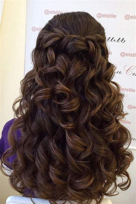 quinceanera hairstyles half up half down 24 chic half up half down bridesmaid hairstyles