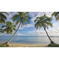 new xl beach wallpaper mural palm trees wall murals tropical decor beach resort wall mural 8 921