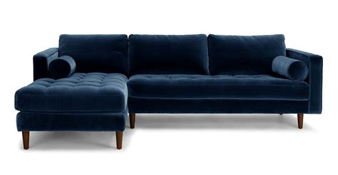 blue modern furniture sven cascadia blue left sectional sofa sectionals