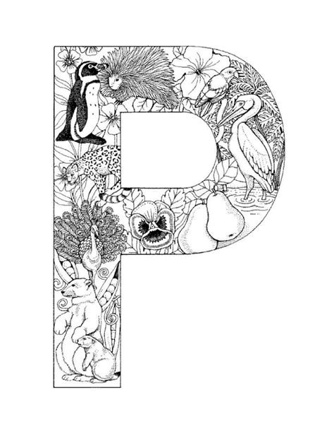 P Coloring Pages by Who Think Alphabet Coloring Pages