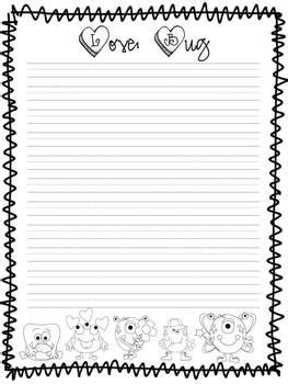 printable insect writing paper love bug writing paper by first grade fascination tpt