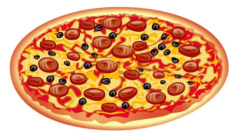 pizza clipart pizza with mushrooms clipart cliparting