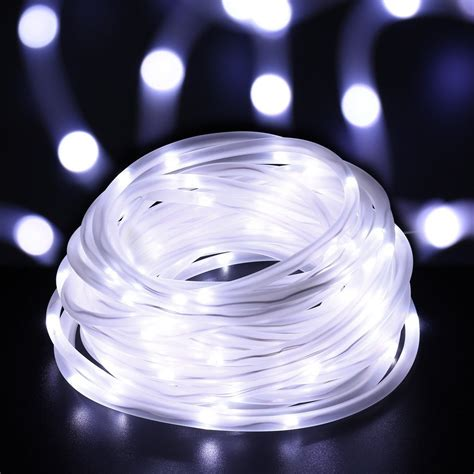 ICICLE 33ft 100 LED Solar Rope Lights Waterproof Wire