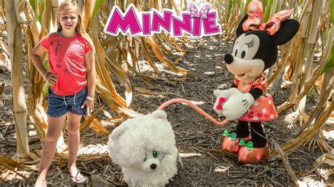 minnie mouse walk and play puppy assistant disney minnie mouse walk and play puppy with wiggle in corn maze