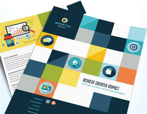 Creative Marketing Materials For A Strategic Advertising Company Stocklayouts Blog Marketing Material Templates