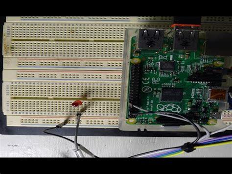 raspberry pi python tutorial gpio raspberry pi gpio tutorial led blink python youtube