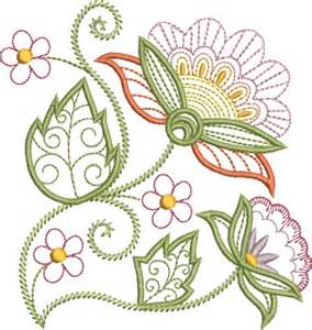 free embroidery templates pat williams embroidery design pretty jacobean floral 5