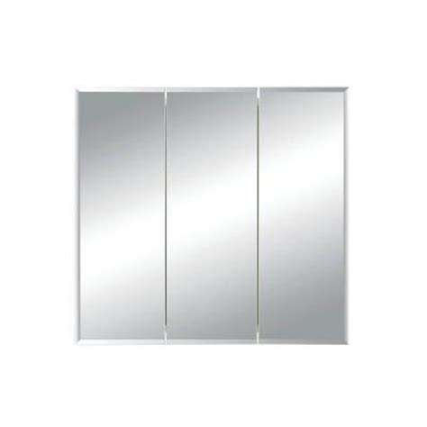 White Recessed Medicine Cabinet With Mirror by Horizon 36 In W X 28 25 In H X 5 In D Recessed Medicine