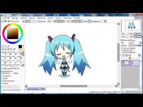 tutorial para usar el paint tool sai tutorial como descargar paint tool sai 176 gratis espa 241 ol