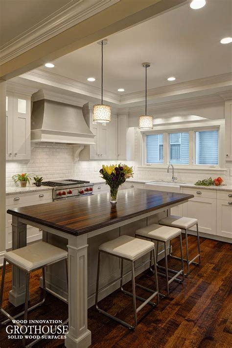 kitchen island wood countertop wenge wood kitchen island countertop in glen ellyn il