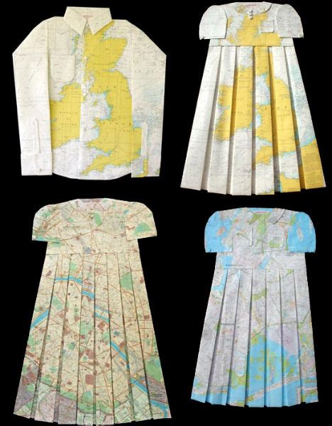 Elisabeth Lecourts Map Clothing by Creative Cartography 15 Artists Transforming Maps Urbanist