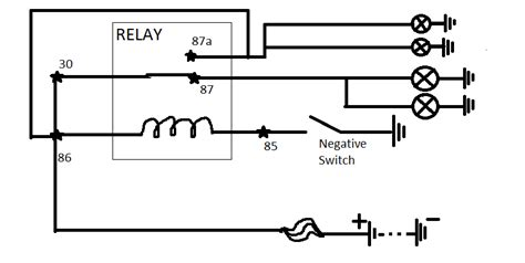 87a relay switch wiring diagram 87a get free image about