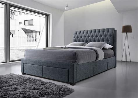 artisan bed artisan beds dark grey 4 drawer storage bed padded