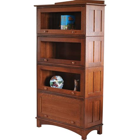 mission barrister stackable bookcase amish crafted furniture