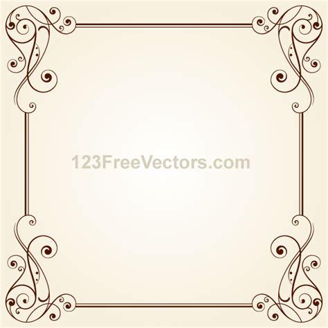frame design in vector vintage ornate frame border design vector 123freevectors
