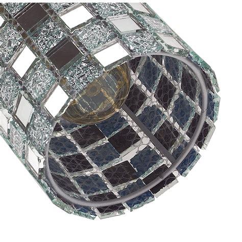 pendant light base plate modern mosaic glass pendant light with chrome plates base