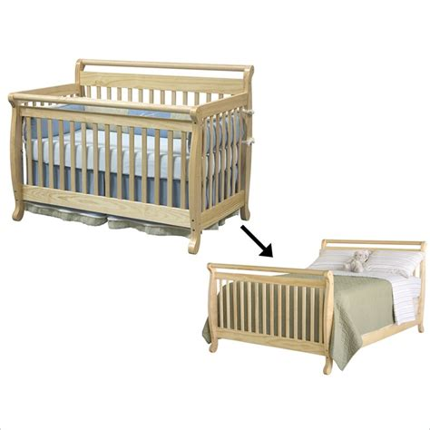 Crib That Converts To Size Bed by Davinci Emily 4 In 1 Convertible Crib Set Bed With Size Rail In White