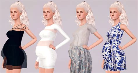 sims 3 teen pregnancy clothes my sims 3 blog maternity enabled dresses by touchmypixels