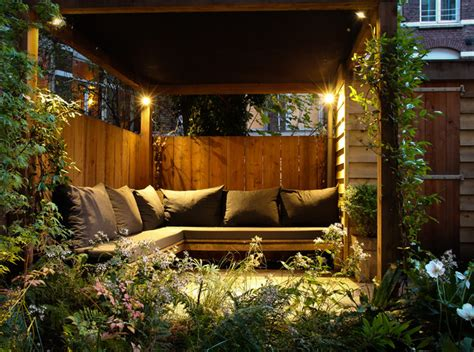 small city garden patio amsterdam by