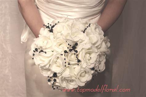 Wedding Bouquet White by Fashionable Bridal Bouquets In Black White Unique