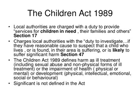 section 17 of the children act 1989 the children act 1989
