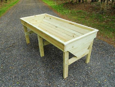 Outdoor Raised Planters by Plans For A Raised Garden Planter Trough Design