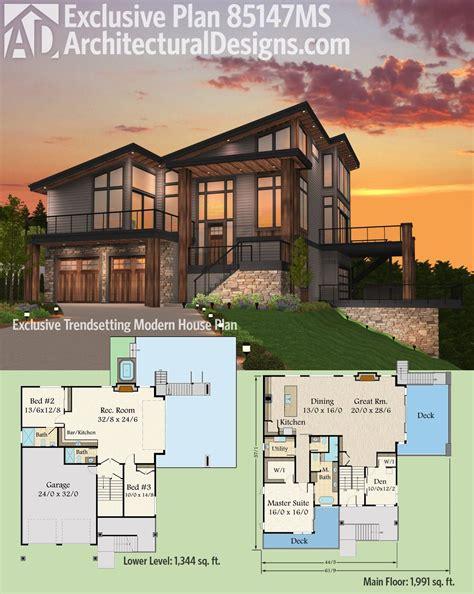 house designer plans plan 85147ms exclusive trendsetting modern house plan maison plans maison moderne plan