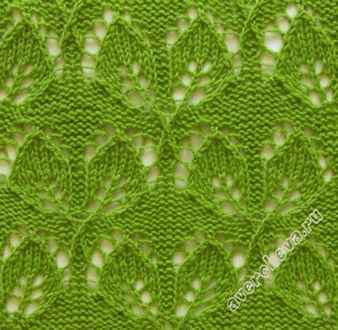 leaf pattern for knitting leaf lace knit pattern leaf lace stitch knitting