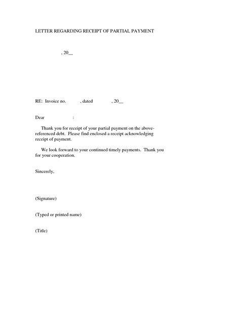 letter receipt of payment template receipt letter for payment receipt template