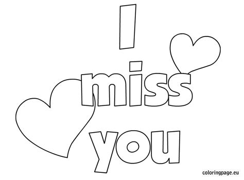 I Miss You Coloring Pages s day coloring page