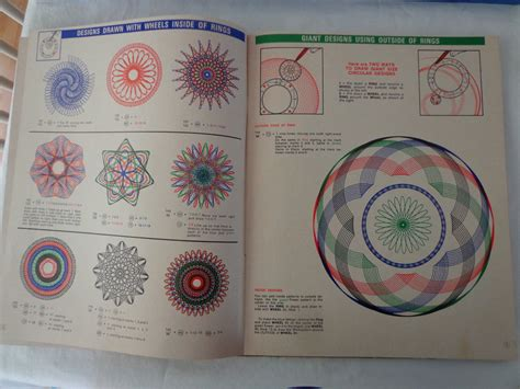 spirograph pattern booklet kenner s super spirograph design booklet and 25 similar items