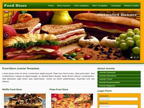 joomla templates for restaurants food store free joomla template for restaurant