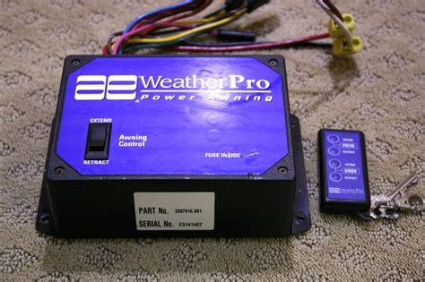 weatherpro power awning parts rv accessories used rv parts weather pro power awning with remote for sale rv exterior