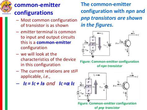 transistor pnp characteristics transistor configurations