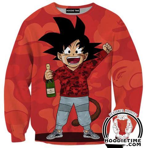 z sweaters kid goku bape style
