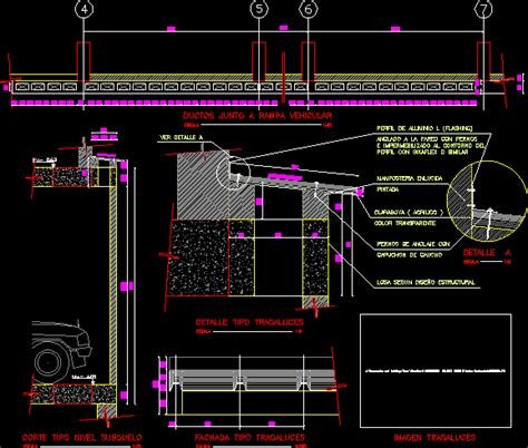 glazed roof details dwg detail  autocad designs cad