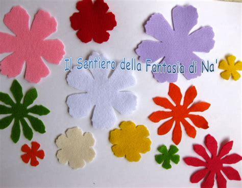come fare i fiori di pannolenci 12 fiori pannolenci fustellati materiali stoffa e