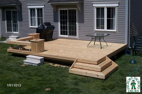 simple deck bench bench diy deck plans
