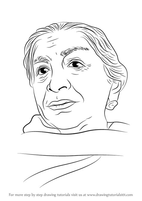how to sketch learn how to draw sarojini naidu poets step by step