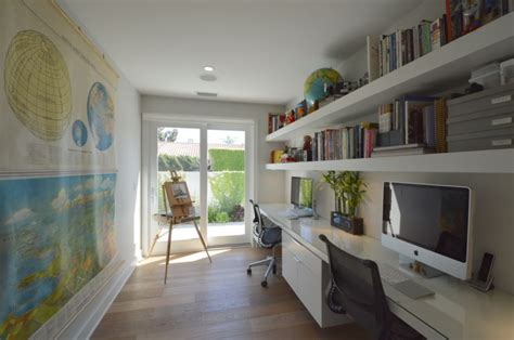 awesome Mid Century Decorating Ideas #4: Home-Office-With-Custom-Built-In-Book-Shelves.jpg
