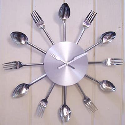 Cutlery Kitchen Wall Clock by Cutlery Kitchen Clock Nilodudes Teleshopping As