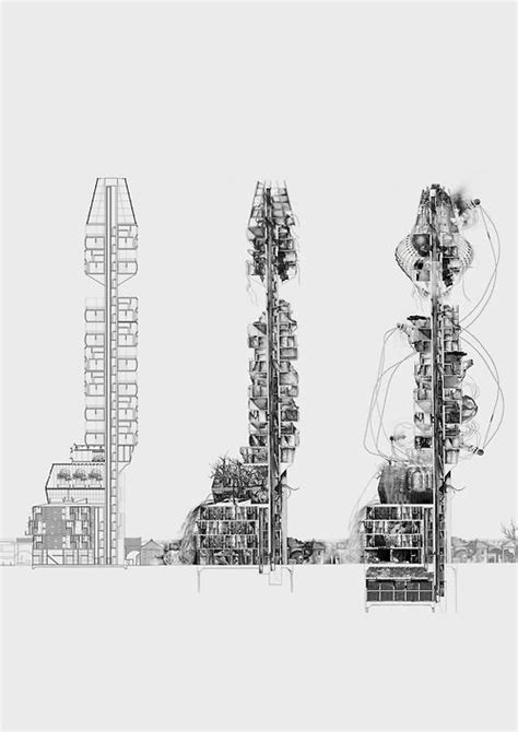 Architectural Plan by Progression Of Ideas Peckham High Rise Architectural