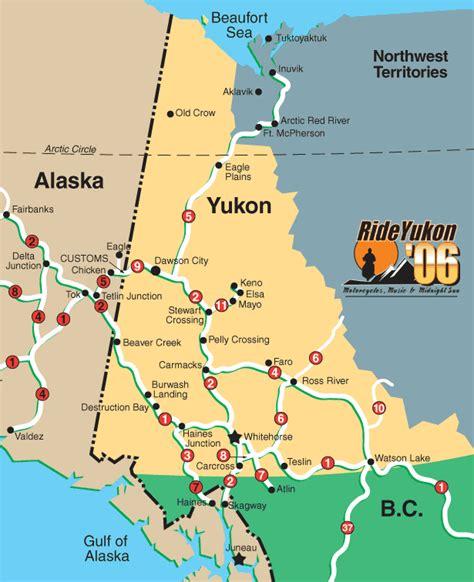 yukon map alaska map map pictures