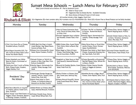 Albuquerque Schools Calendar Lunch Menu Albuquerque Preschool And Albuquerque
