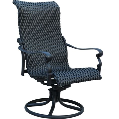 High Back Swivel Rocker Patio Chairs Homecrest Kashton High Back Patio Chairs