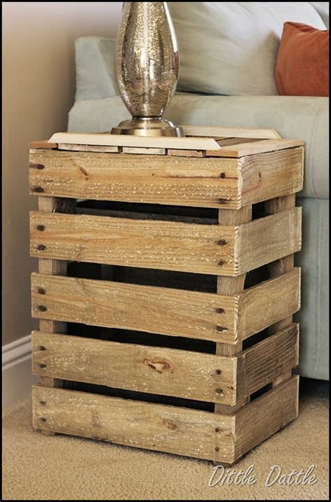 Crate Side Table by Someday Crafts Crate Side Table And Pier 1 Clock Knock