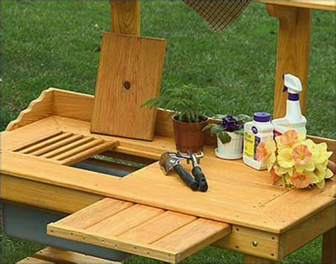 pictures of potting benches cypress potting bench
